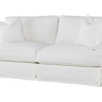 Shabby Chic, Comfy Queen Sleeper Sofa, White, Sleepers
