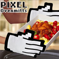 Pixel Oven Mitts | What is New | Animi Causa Boutique