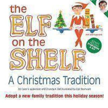 Elf On The Shelf A Christmas Tradition Blue Eyed Girl Scout Red Doll & Book
