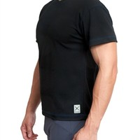 Eros Sport Cool T Shirt is best yoga shirt for men. Cool T is best for yoga, pilates, crossfit, compression and running. Cool T has stretch because spandex is in the fabric.