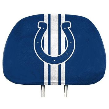 Indianapolis Colts 2-Pack Color Print Auto Car Truck Headrest Covers