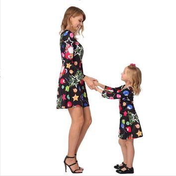 2018 Christmas Mom & Me Girls Santa Dress