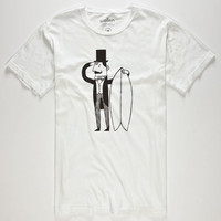 Wellen Surf Monopoly Mens T-Shirt White  In Sizes