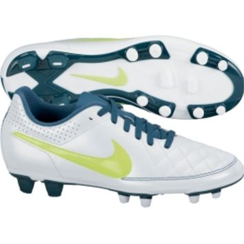 Nike Women's Tiempo Rio II FG Soccer Cleat - White/Teal | DICK'S Sporting Goods