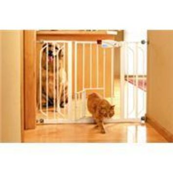 Carlson Pet Products - Extra Wide Walk-thru Pet Gate With Pet Door