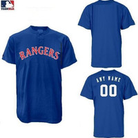 Youth Large (Blank Back) Texas Rangers 2-Button Replica Baseball Jersey