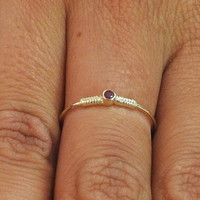 Engagement Ring,Solitaire Ring,Ruby Ring, 14K Yellow gold, July Birthstone