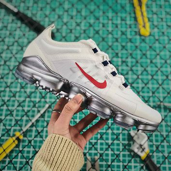 Nike Air Vapormax 2019 Red White Sport Running Shoes - Best Online Sale