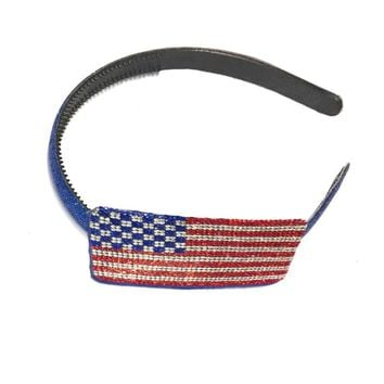 Sweet as Sugar Couture Sparkle Headband - USA Flag