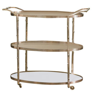 Arbor Bar Cart by Global Views, Brass