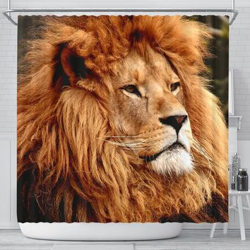 Lion The King Print Shower Curtains-Free Shipping