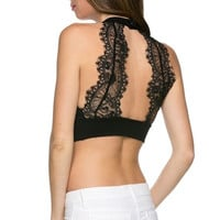 Siena Lace Back Patch Crop Top (more colors)- FINAL SALE