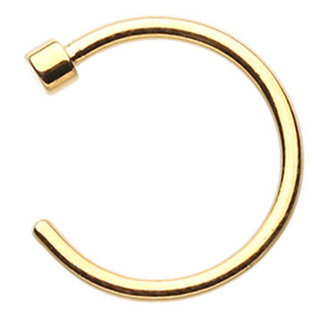 Gold Colored PVD Nose Hoop Ring