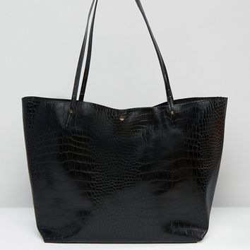 ASOS Croc Bonded Shopper Bag at asos.com