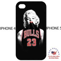 Marilyn Monroe Chicago Bulls Jersey Iphone 4 4s Hardcover Case