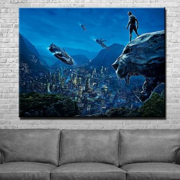Panther Scenic Night Canvas Set