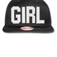 GIRL EMBROIDERY HAT - New Era Flat Bill Snapback Cap