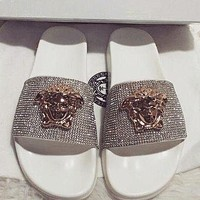Versace Women Fashion Casual Slipper Shoes
