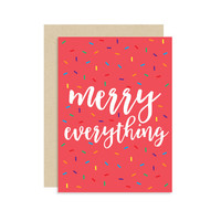 Merry Everything - Christmas Holiday Seasonal Card - Confetti Sprinkles - Modern Cute Fun Funny 5x7