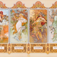 Alphonse Mucha Four Seasons Poster 24x36