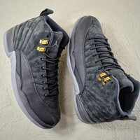 """Ready Stock"" Air Jordan 12 ""Dark Grey"" Sneaker"