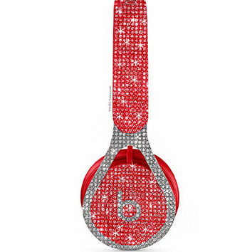 Beats Ep, Custom Beats by Dre, Crystal Beats by Dre, Bling Beats, Bling custom headphones, Beats by Dre Red ,Beats Headphones