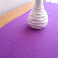 Purple Solid Table Runner, Simple Table Runner, Decorative Table Runner, Dining Table Cover, Linen Tablecloth, Kitchen Table Decor,