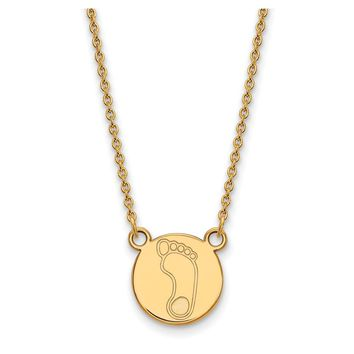 NCAA 14k Gold Plated Silver North Carolina Tar Heals Pendant Necklace