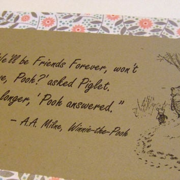 Friends Forever Winnie the Pooh Quote by prettypetalspaper