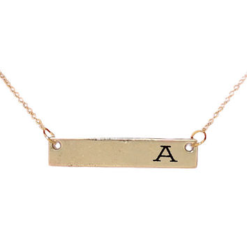 Simply Southern Necklaces Single Initial Bar A - T