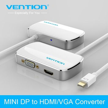 Vention 2 in 1 Mini DP DisplayPort To HDMI VGA Adapter Converter Cable for Apple MacBook Air Pro iMac Mac HDTV projector