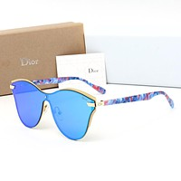 Dior Fashion Women Elegant Summer Sun Shades Eyeglasses Glasses Sunglasses Blue I-HWYMSH-YJ