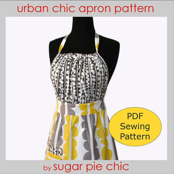 PDF Pattern Women's Full Tutorial - URBAN CHIC Apron Pattern - Instant Download Sewing Pattern