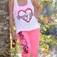 Womens cute and fashionable heart hook and antler Sporty Girl clothing