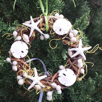 Beach Christmas Ornament, Beach Decor, Beach Wreath, Beach Christmas, Beach Wedding Decor, Beach Wedding Favor, Christmas Ornament