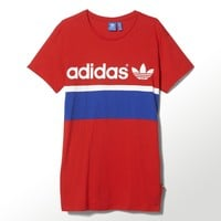 adidas City Tee Dress - Red | adidas US