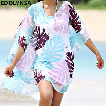 Swimwear Saida de Praia de Renda Bikini Cover up Beachwear Women Beach Cover ups Sarong Beach Kaftan Beach Tunic Pareos #Q404