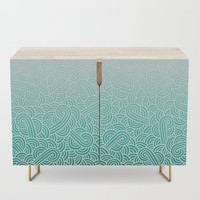 Faded teal blue and white swirls doodles by Savousepate