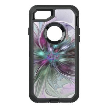 Colorful Fantasy, abstract and modern Fractal Art OtterBox Defender iPhone 7 Case