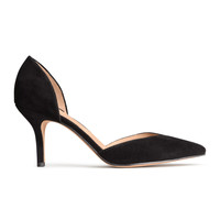 H&M - Suede Pumps - Black - Ladies