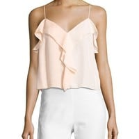Rag & Bone Posta Ruffled Tank Top, Peach Orange and Matching Items