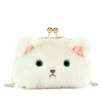 Fuzzy Kitty Crossbody Bag