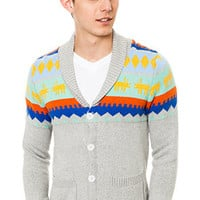 Biography Wear FittedMotif Cardigan Sweater