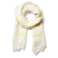 Neon Line Scarf, Yellow/Ivory, Scarves
