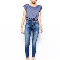 ASOS Ridley High Waist Ultra Skinny Ankle Grazer Jeans in Denver Mid W