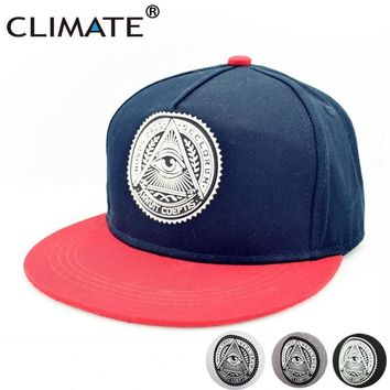 Trendy Winter Jacket CLIMATE Illuminati Eye ANNUIT COEPTIS Snapback Caps Novus Ordo Seclorum -Mason U.S Dollar Flat Peak HipHop Hat Man Women AT_92_12