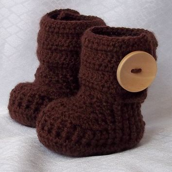 Crochet baby booties for 03 M 3  6 M69 M with by margarita779