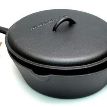 Cast Iron 5 Qt Deep Fry Skillet With Lid