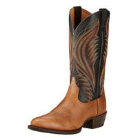 Ariat Mens Boomtown Copper Kettle Black R Toe Western Boots
