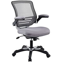 Modway Edge Mid-Back Mesh Task Chair, Adjustable Arms, Gray | Staples®